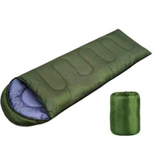 Ultralight folding camping single sleeping bag winter autumn envelope hooded outdoor goose down sleeping bags camping