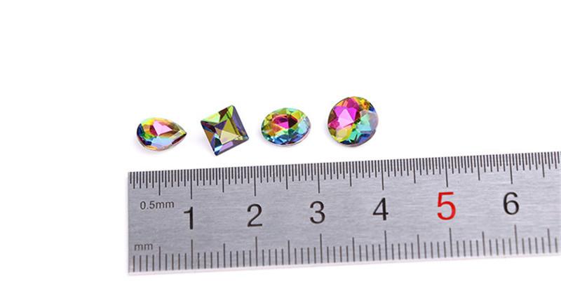 Nail fire drill Lava Symphony AB rhinestone Color diamond Austrian crystal glass bottom tip drill Nail Art