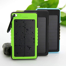 New Waterproof Solar Power Bank 5000mAh Portable Li-Polymer Battery Solar Charger Bateria Externa Pack for Mobile phone(China (Mainland))