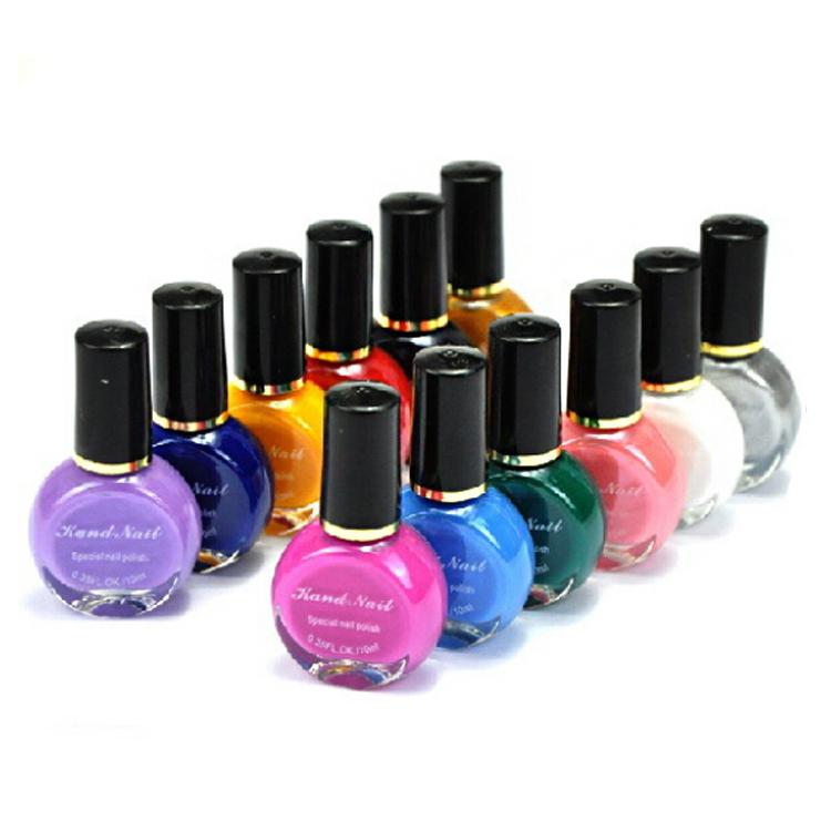 8 Bottle New Nail Polish/stamp polish Wholesale price 26 colors Optional 10ml Free Shipping Kand Stamping Nail Art varnish(China (Mainland))