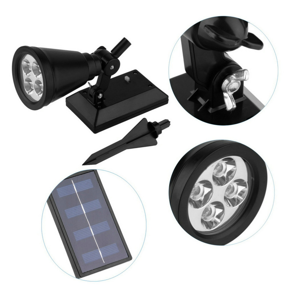 4 LED Solar Lawn Solar Garden Lamp Spot Light Outdoor Lawn Landscape Spotlight<br><br>Aliexpress