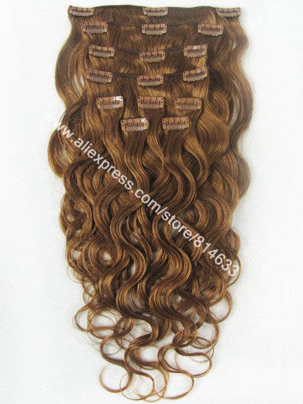 Cheap #30 Auburn Body Wavy 9pcs Full Head 100% Brazilian Virgin Human Hair Clip in Hair Extensions<br><br>Aliexpress
