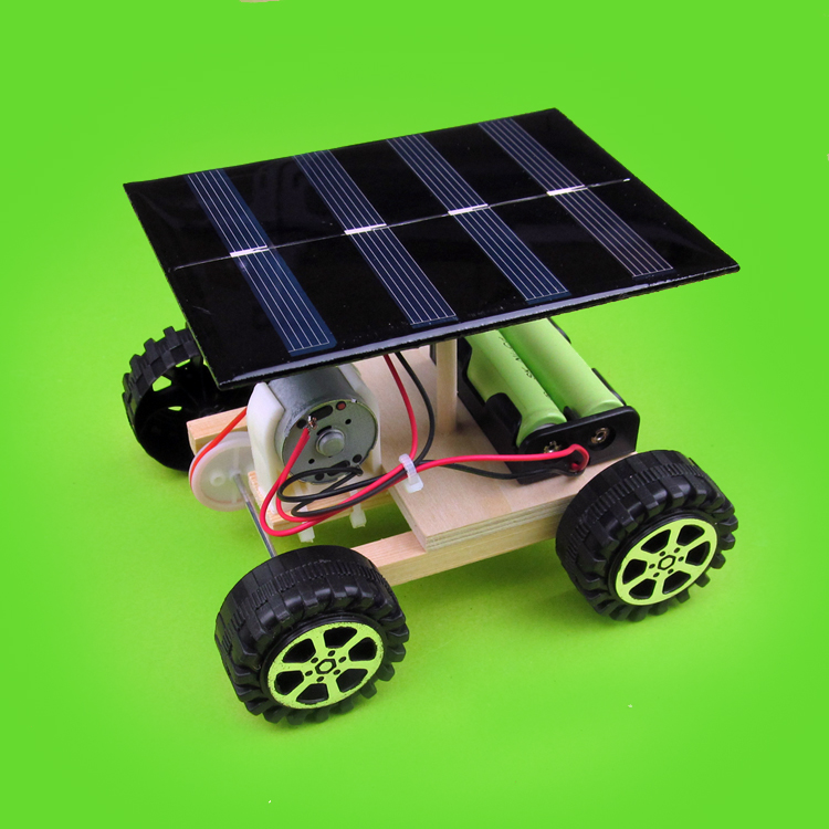 DIY manual assembly materials Solar power drive vehicle technology to make scientific invention of physics experiment(China (Mainland))