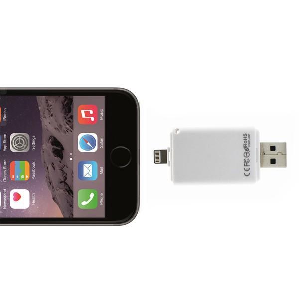Newset! i-Flash Driver HD U-dick data for iPhone/iPad/iPod,micro usb interface flash drive for PC/MAC 64G(China (Mainland))