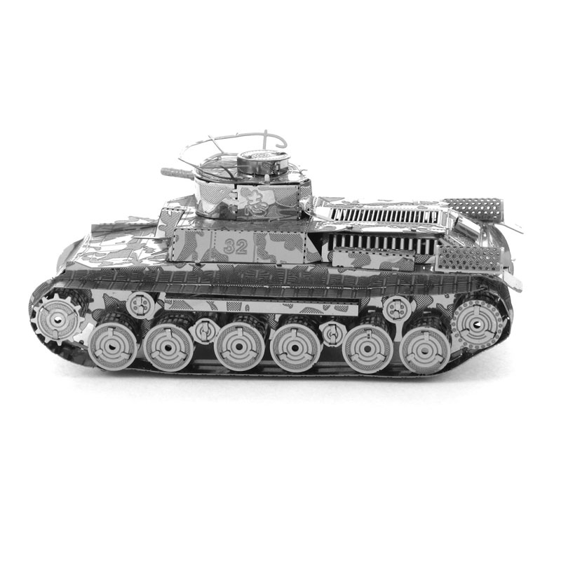 Military Tank series 3D puzzle metal Japanese 97 Tank model Stainless Steel jigsaw toy(China (Mainland))