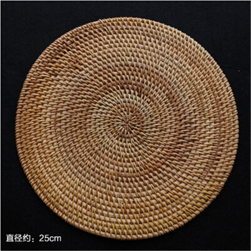Achetez en gros table ronde en rotin en ligne des for Set de table paille