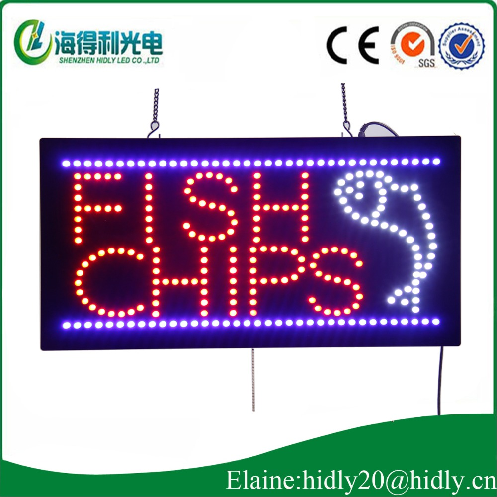 10 years of production experience, high quality electronic signature/cool billboard/FISHI CHIP store special sign(China (Mainland))