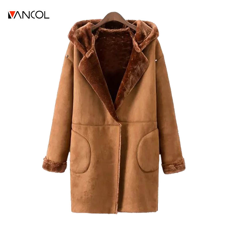 Online Get Cheap Long Shearling Coat with Hood -Aliexpress.com ...