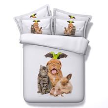 Cute Animal  Friends 3d HD printed bedding set(China (Mainland))