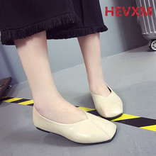 Buy 2017 spring autumn Peas square head shallow mouth sets lazy wild grandma shoes flat girl shoes women shoes woman for $21.08 in AliExpress store