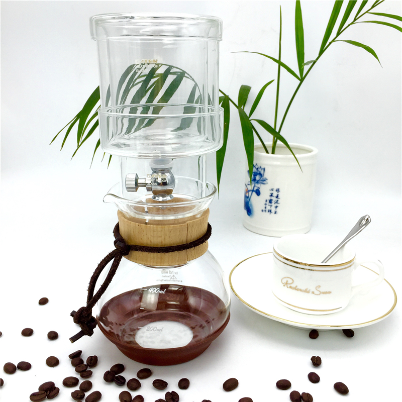 Free shipping new percolators 400ML glass coffee pot / high quality filter coffee maker ice drip coffee filters tool China BD-2(China (Mainland))