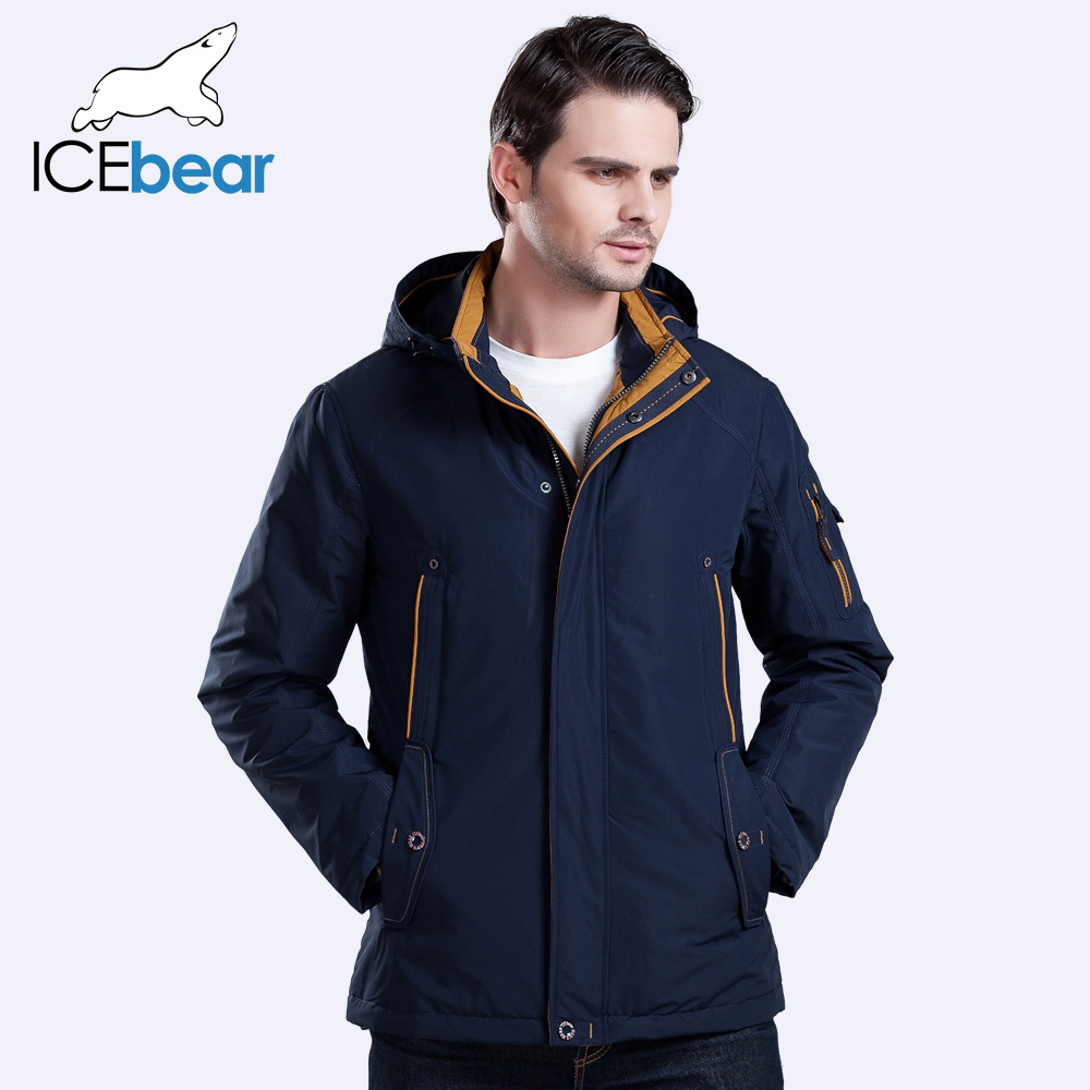 ICEbear 2016 Three Colors Large Size Polyester Thin winter jacket Men parka Spring Casual Warm Coat 17MC853(China (Mainland))