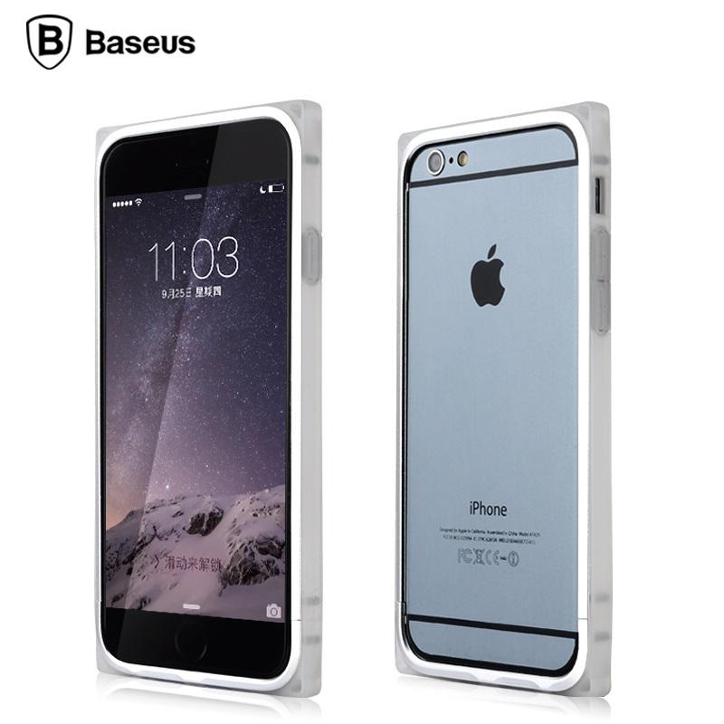 Baseus Aluminum Rigid Soft Bumper Case For iPhone 6(China (Mainland))