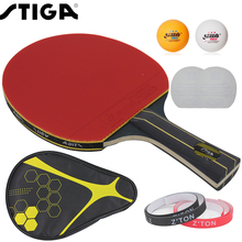Brand Quality Table tennis racket Double pimples-in rubber Ping Pong Racket fast attack and loops or chop type player(China (Mainland))