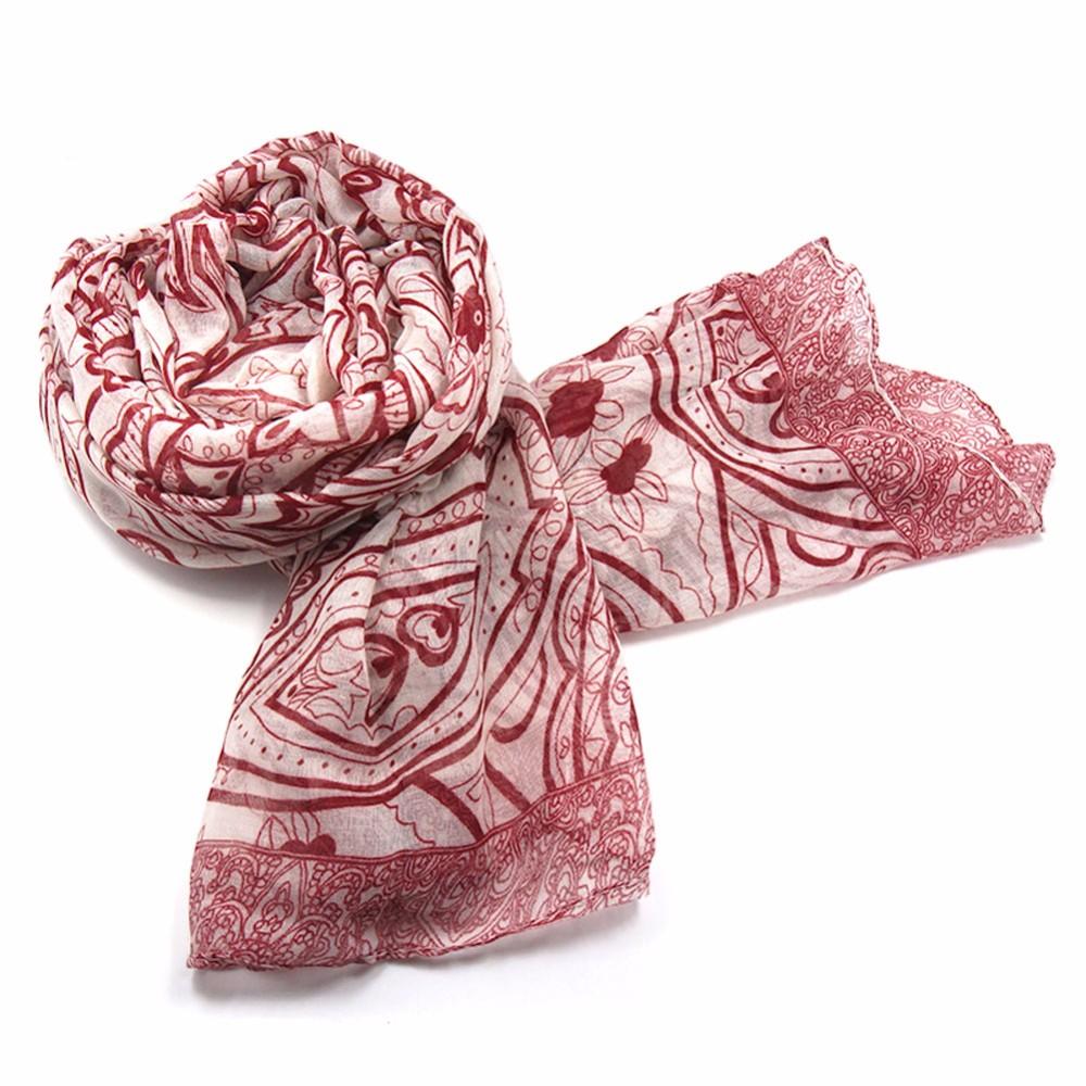 Fashion Flower Printed Scarf Women Viscose Scarves Bandana Shawls