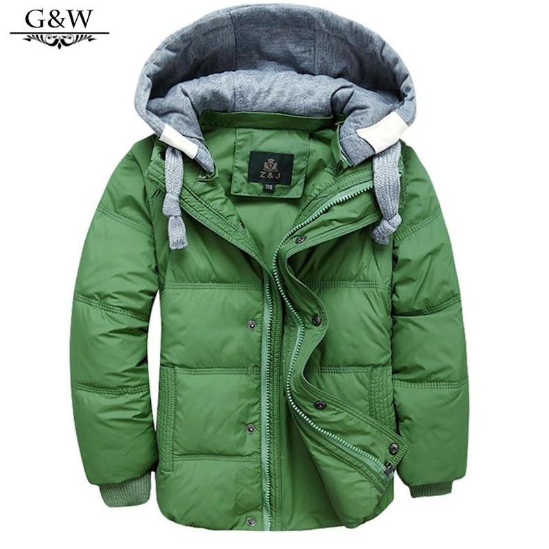 New Children Jackets For Boys Girls Winter White Duck Down Jacket boys Coats Hooded Parkas Moveable-Sleeve down Children Coat(China (Mainland))