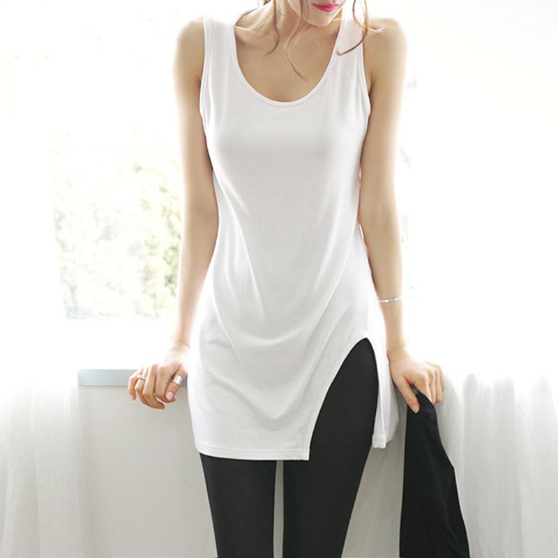 2015 summer style new model t shirt women long ladies vest fashion slim hip package sexy tank. Black Bedroom Furniture Sets. Home Design Ideas