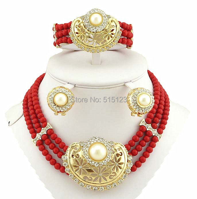 pearls bridal jewelry set women necklace african big jewelry sets wedding jewelry bead jewelry(China (Mainland))