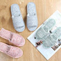Japan and South Korea style Women and men lovers household indoor cotton line slippers