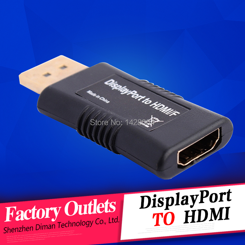 wholesale 2014 New 1080P HD mini display port Displayport Male DP to HDMI Female Adapter Cable Converter for HP DELL Apple iMac(China (Mainland))