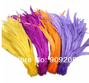 "Long 30cm 12"" 7colors Dyed DIY Turkey Hair extension pheasant tail feather feathers wedding"
