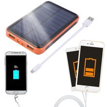 2016 Newest 12000mAh Waterproof Portable Solar Power Bank Dual USB Solar Charger for cell phone(China (Mainland))
