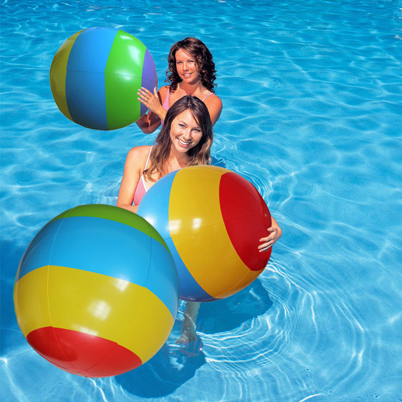 Newest Children and dult Inflatable Beach Ball Kids Inflatable Rubber Soft Toys pool water outdoor sport toys ball Game Props(China (Mainland))