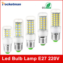 LED Corn Bulb E14 E27 Lamp 5730 SMD 220V 24LED 36LED 48LED 56LED 69LED Warm white Cold White - Rocketman Technology (China store Co., Ltd.)