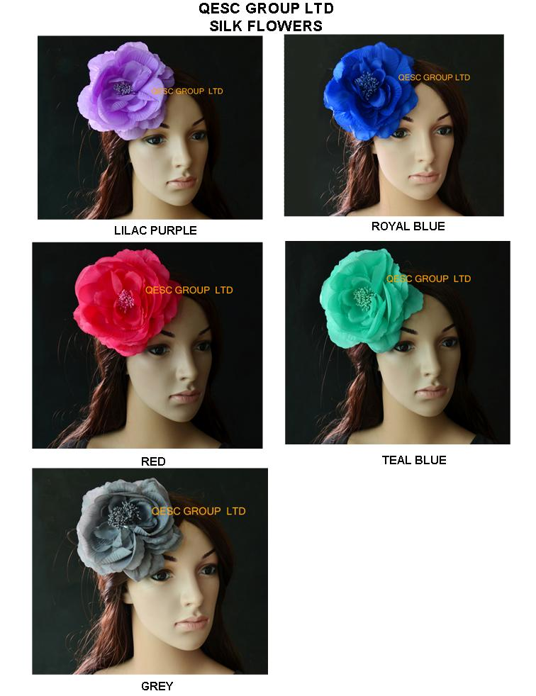 Soft 15cm silk flower flower for fasinator wedding hat church hat.with brooch pin hair clip.lilac(China (Mainland))