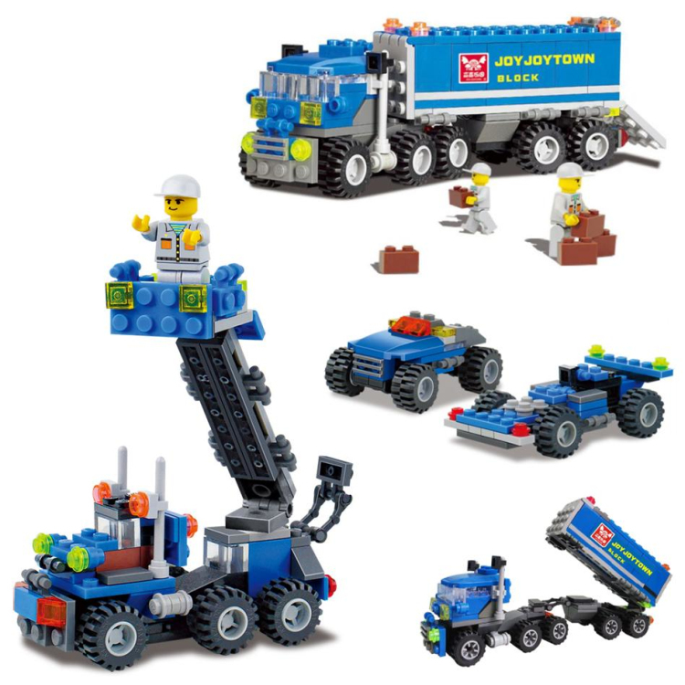 Boys Model Building Kits Ladder truck racing One Set 8 styles ,scale models Education Toys Brand Quality Wholesale retails 50-12(China (Mainland))