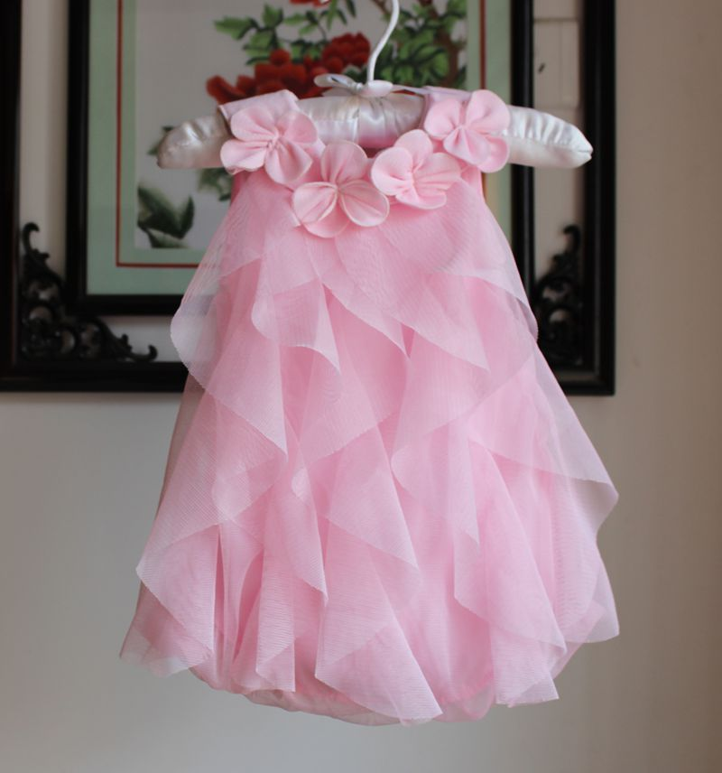 2015 Baby Girls Summer Dress Infant Romper Dresses Toddler Girls Birthday Party Dresses Jumpsuits New Style Baby Clothing 4Color(China (Mainland))