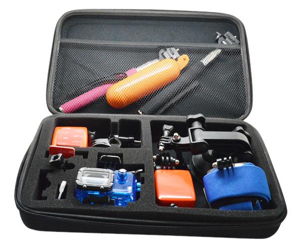 Sports Camcorder Accessories Cameras Bags Big EVA Size Collection Box for Go Pro Hero 3+ Hero3 Hero2 SJ4000(China (Mainland))