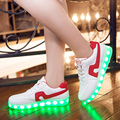 2017 Hot Sell Fashion Basket Led Shoes Men s Women s Luminous Light Up Shoes For