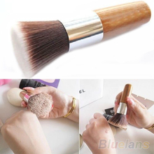 Flat Top Buffer Foundation Powder Brush Cosmetic Makeup Basic Tool Wooden Handle  1EYG