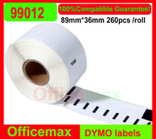100x  Rolls Dymo 99012 (other products 99010,9014,99015,99017,99019,11352,11354 ,11355 ,11356 ,30252 ,30256,30323 ,30324,30336)