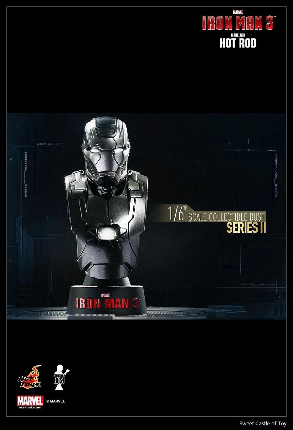 1/6 Hot Toys Iron Man 3 Mark XXII Hot Rod Collectible Busts Loose Ver.(China (Mainland))