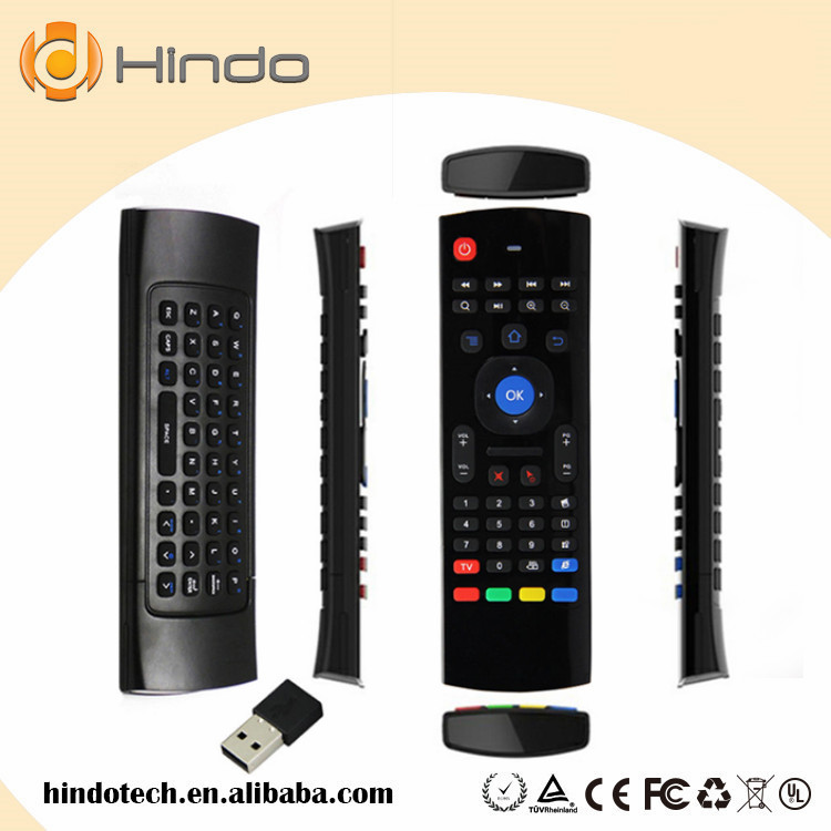 MX3 with mic Air Mouse Wireless Keyboard + Voice 2.4Ghz Wireless Mini IR Learning Remote Controller For Android TV Box MX3(China (Mainland))