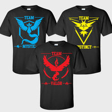 Loose Short Sleeve Men Women Fitness Sports Running T-Shirt Pokemon Go Game Team Mystic Print Black Cotton Men Women T-shirts