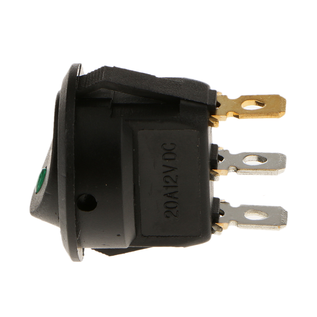 Illuminated LED 3 Pin P Rocker ON / OFF 12v DC Dashboard Switch Parking Reverse Sensor Front Rear Reversing Sensors