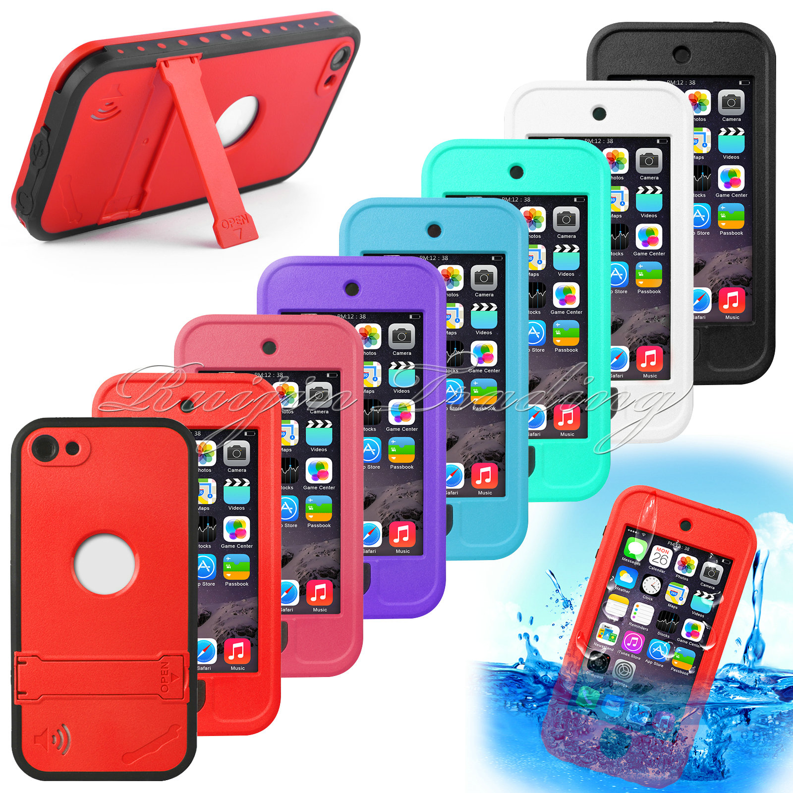 For Apple iPod iTouch 5 5th Gen Smart Phone Case Newest Fashion Waterproof Shockproof Durable Hard Cover(China (Mainland))