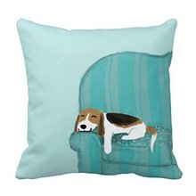 Cute Dog Beagle Relaxing Throw Pillow