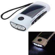 3 in 1 T001 4 LED Solar Cellphone External Battery Charger Power Bank + Emergency Camping Flashlight Light Torch Lamp + FM Radio
