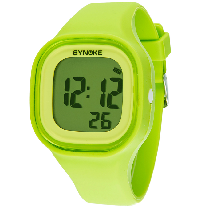 SYNOKE Brand Student Jelly Watch Waterproof Alarm Colorful Backlight Silicone Band Fashion Digital Watches<br><br>Aliexpress