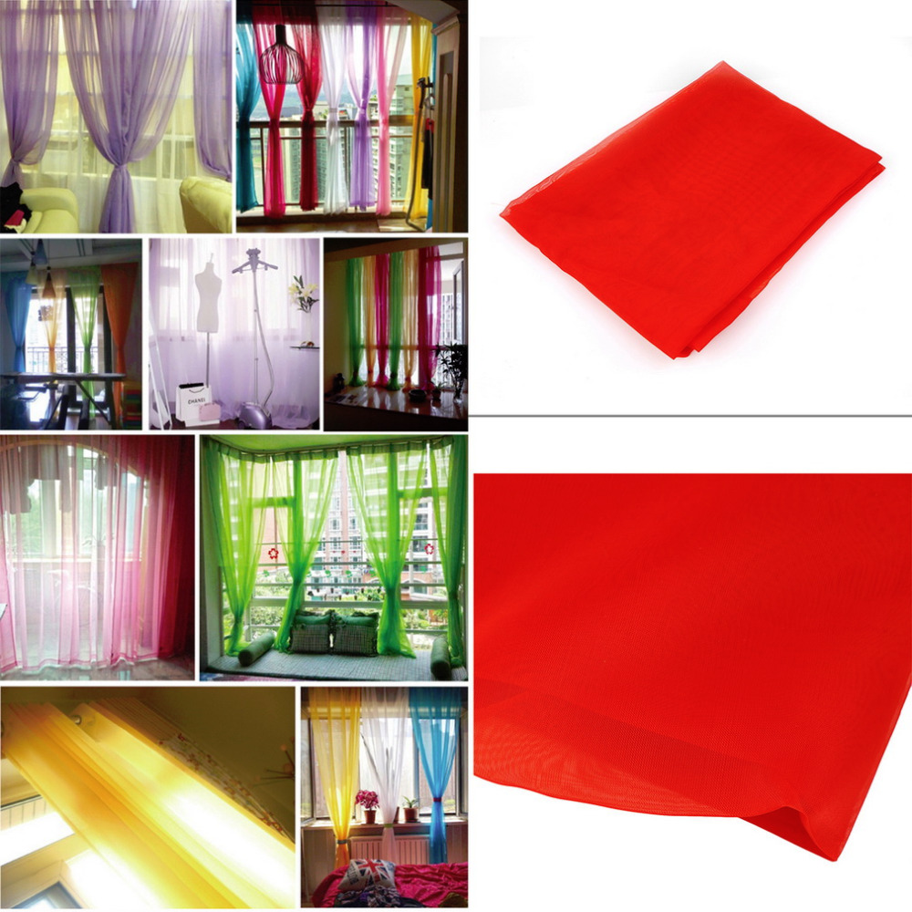 Aliexpresscom Buy 100200 Sheer Voile Window Curtain