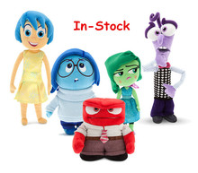 2016 Hot Sale Pixar Movie Inside Out Plush Toy Cartoon Sadness Fear Joy Disgust Anger Stuffed doll Birthday Gifts for Children(China (Mainland))