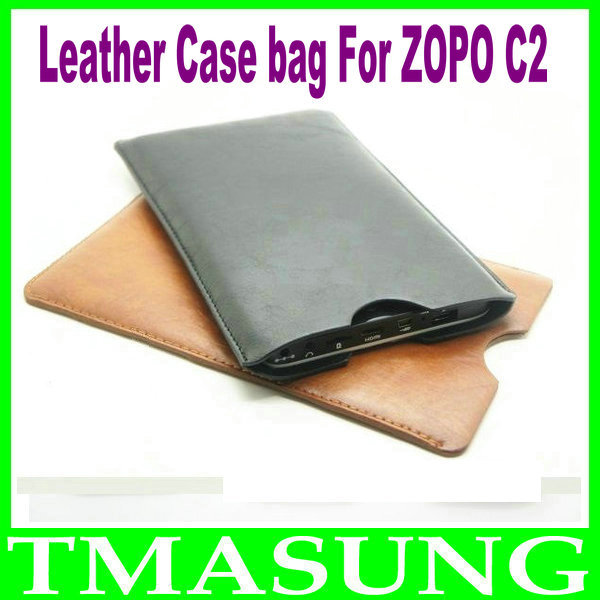 2014 Free shipping pu leather Case bag For ZOPO zopo C2 C3 ZP980 android Phone ,black brown color in stock(China (Mainland))