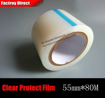1x 55mm*80 meters Clear PE Protective Film for Phone, Tablet, Mp3 Mp4 MP5,Electronics Windows, LCD Glass, Mirror Frame, Housing