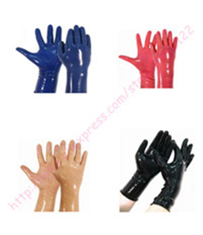 Hot sale! 2014 New Fashion Sexy Latex Gloves W/O Edge Curl Plus Size(China (Mainland))