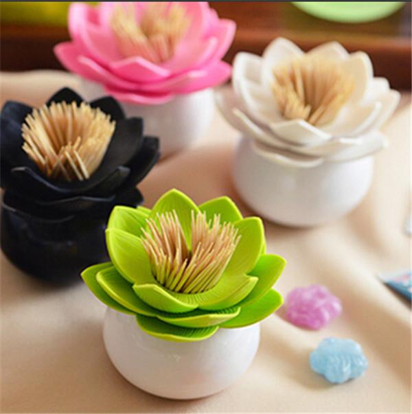 Lotus Cotton Swab Box Cotton Bud Toothpicks Holder Toothpick case Lotus Home Decor Storage Boxes RD870661(China (Mainland))
