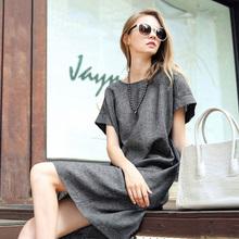2016 New Women Fashion Summer Dress Plus size Casual Mini Denim Dresses Jeans Dresses Loose Short Sleeve Cotton Dress CLothing(China (Mainland))